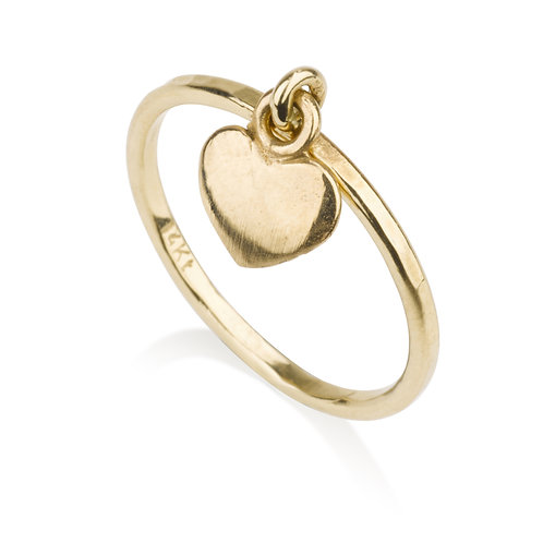 This dainy Heart Ring has a chic urban look.   It was designed especially for girls to wear on its own, looks lovely stacked