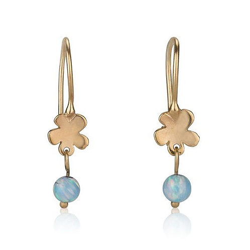 Dainy Flower Earrings with Opal