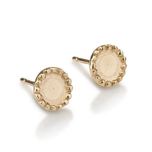 Large Dotted Circle stud earrings are handmade especialy for you.