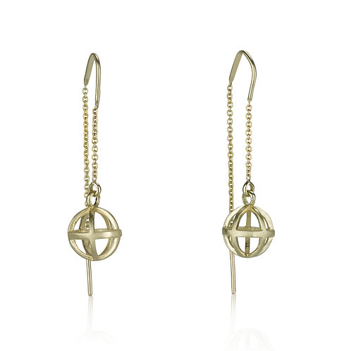 DISTANT JOURNEYS Hollow Ball Chain Earrings, a unique chic look. The earrings were made to wear for a lifetime.