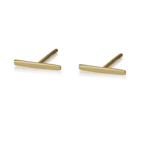 Thin Stripestud earrings are handmade especialy for you.
