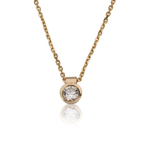 Diamond DOT Pendant Necklace