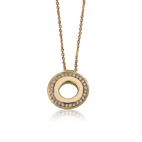 Circle Pendant Diamonds Necklace