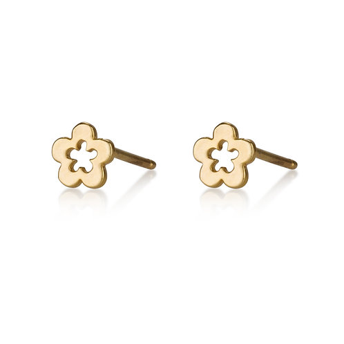 These Small Hollow Flowerstud earrings are handmade especialy for you.