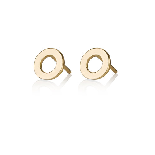 Large Hollow Circle stud earrings are handmade especialy for you.
