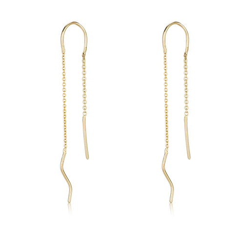 DISTANT JOURNEYS Stick Chain Earrings, a perfect festive look. The earrings were made to wear for a lifetime.