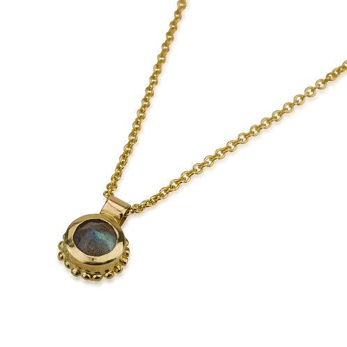 Gold balls Labradorite pendant Necklace