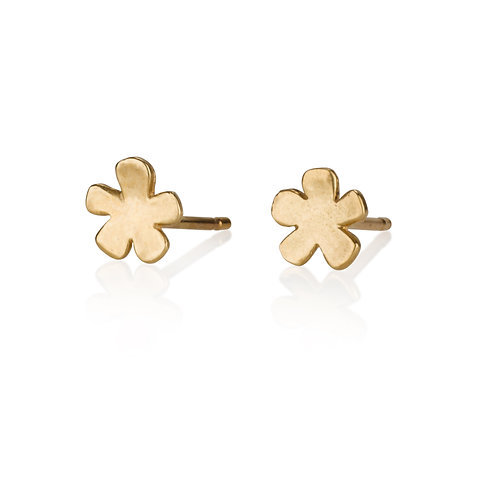 Flat Flower Stud Earrings