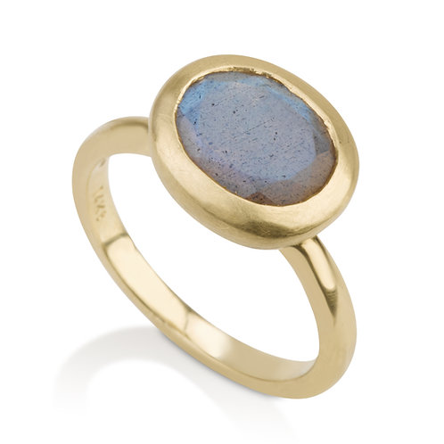 Small Signet Labradorite  Ring