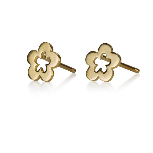 These Large Hollow Flowerstud earrings are handmade especialy for you.