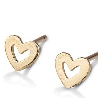 These Large Hollow Heart stud earrings are handmade especialy for you.