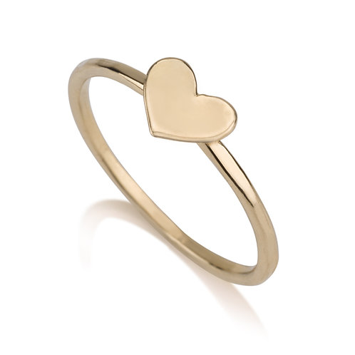 This dainy Heart Ring has a chic urban look.   It was designed especially for girls to wear on its own,looks lovely stacked.