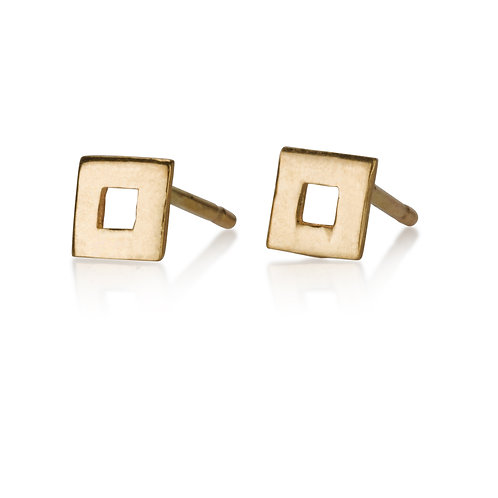 Large Hollow Square Stud  Earrings