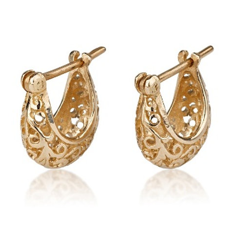 Large LACE Hoop Earrings, a chic look for special occasions. The earrings were made to wear for a lifetime.