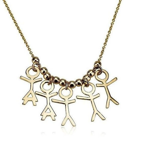 gold Boy and Girl Children Pendants necklace is the perfect Mothers gift, for your Mother, for your Wife, for your Grandma.