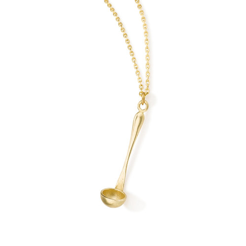 The Pot Whisperer Ladle Pendant Necklace is Perfect for the chef, foodie, cook , Pastry Chef ,mom and dad home  cooks