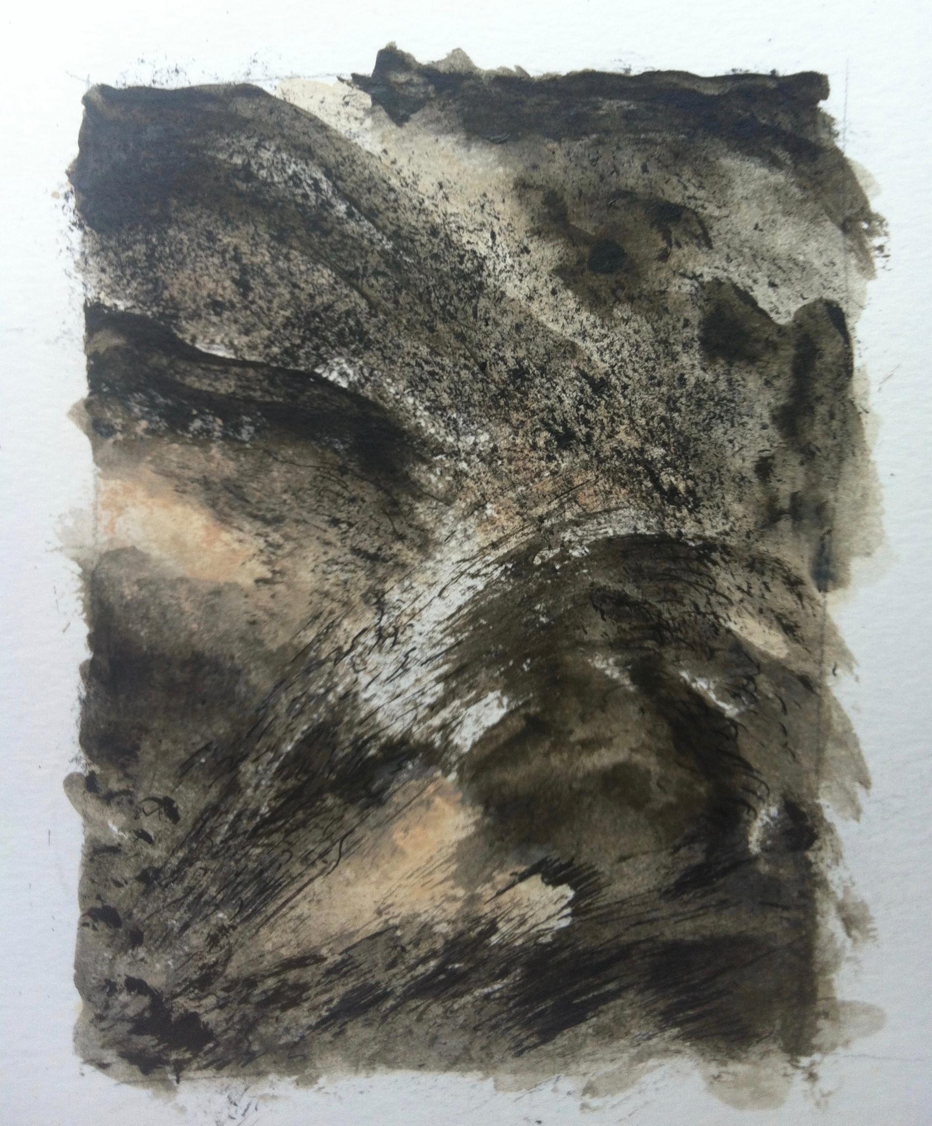 Wind 1 | acryl en inkt op papier | 8x12