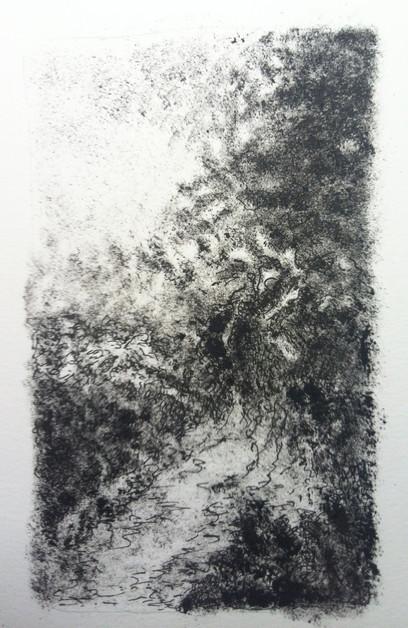 Nachtelijke tuin 3 | acryl op papier | 10x15
