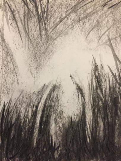 z. t. | acryl en krijt op papier | 9x14
