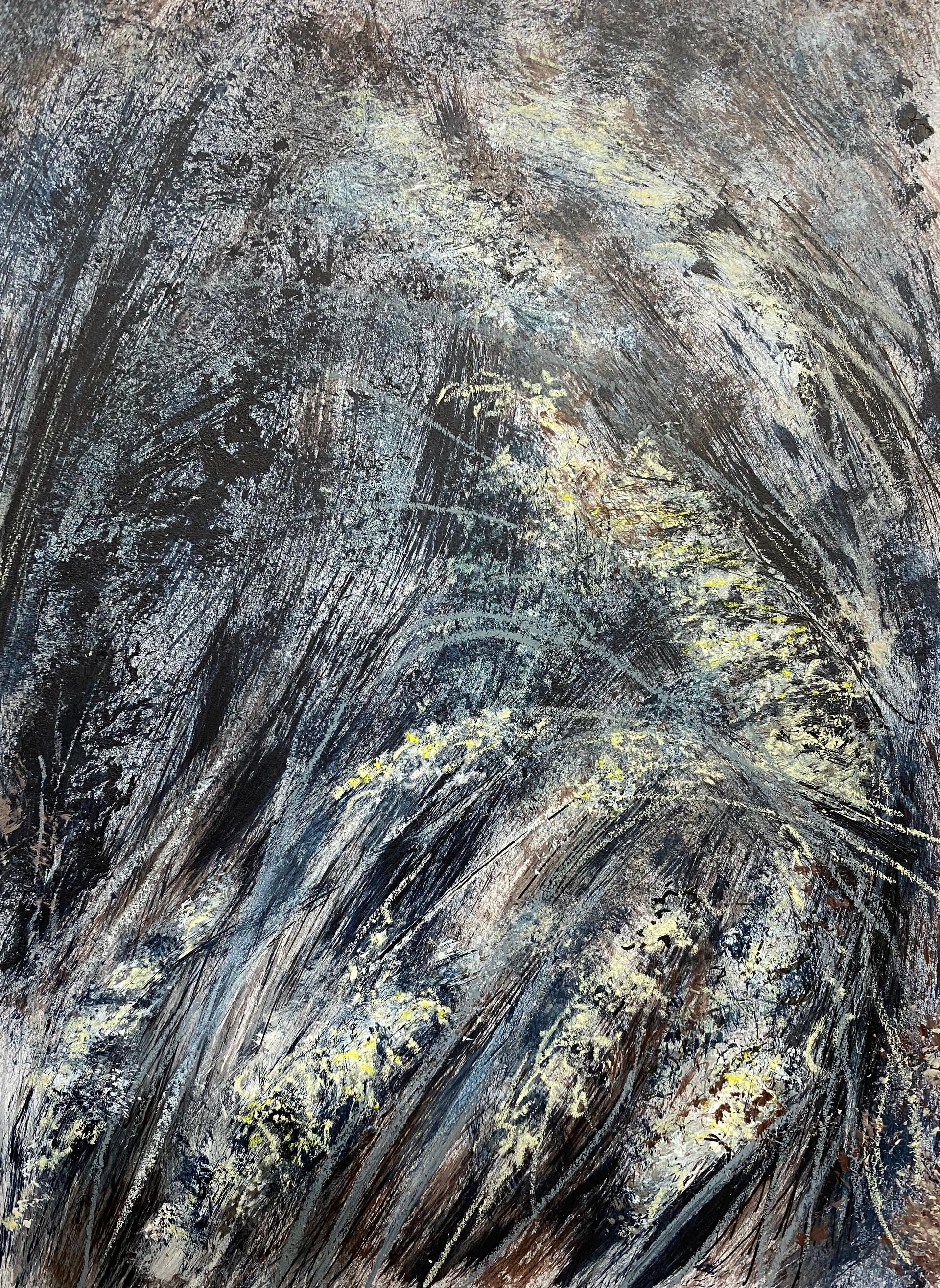 gras 7 | acryl, krijt op papier | 20x26