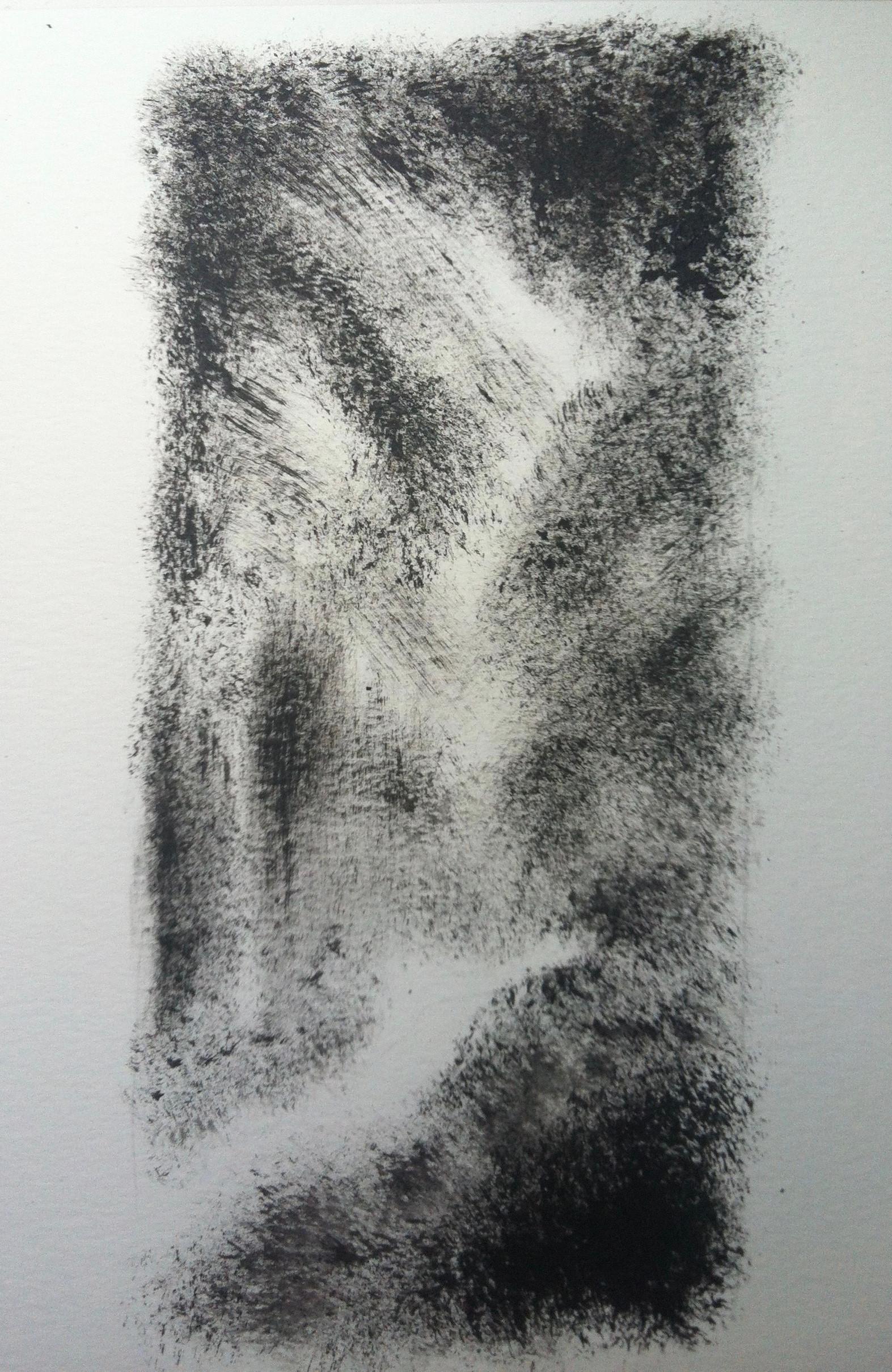 Nachtelijke tuin 4 | acryl op papier | 8x18