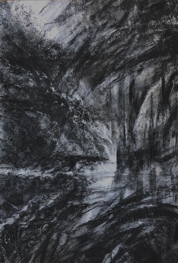 Nachtelijke tuin | gem. techn. op papier | 32x46
