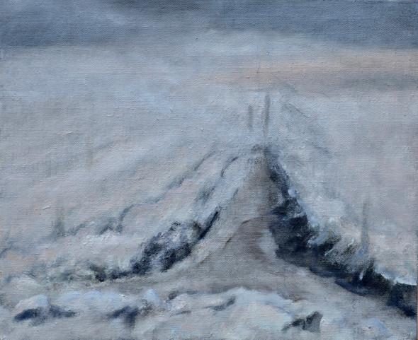 Sneeuw | olieverf op paneel | 30x26