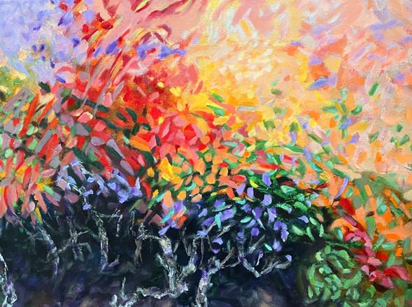 oude tuin | acrylop doek | 50x70