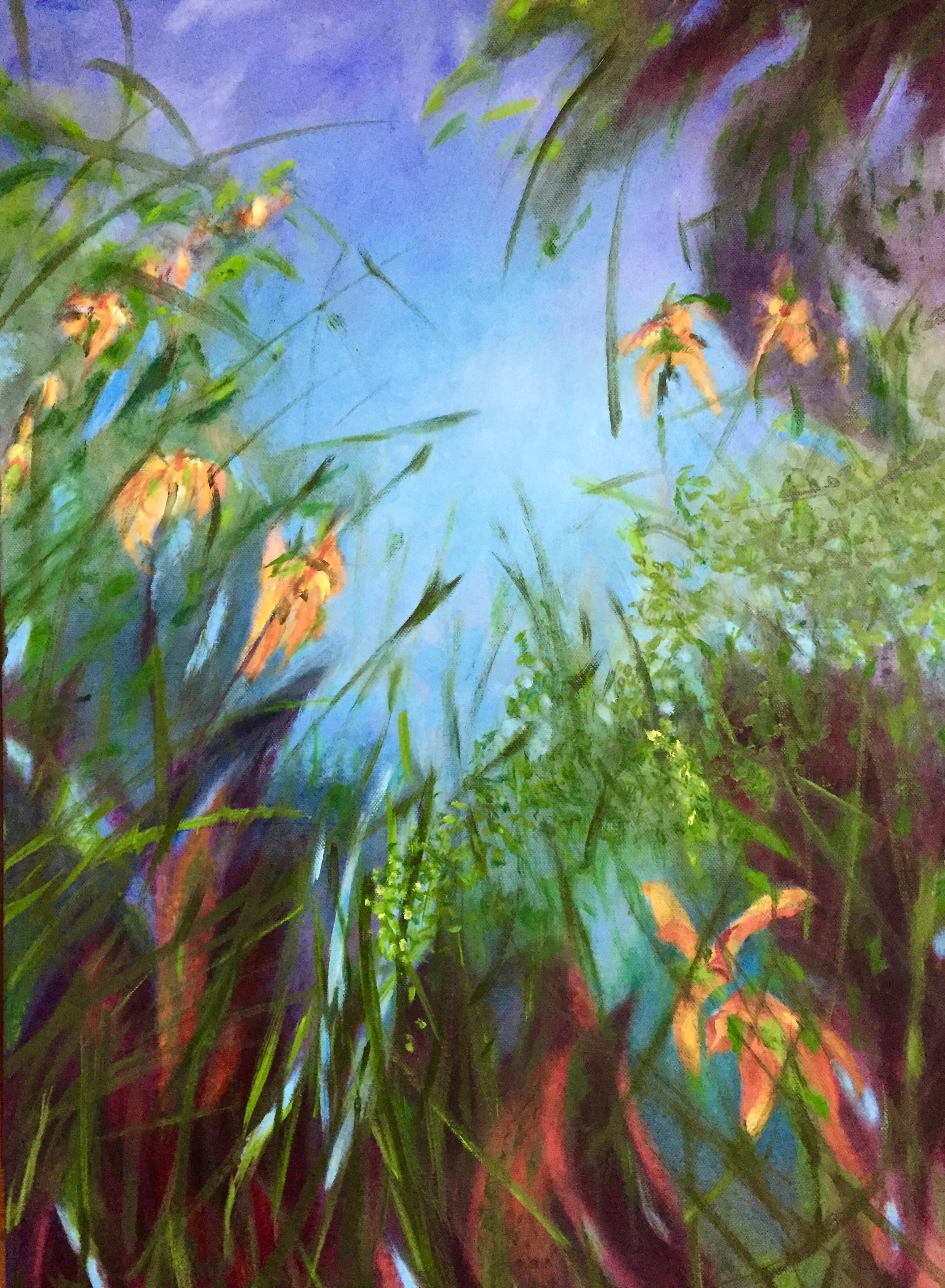 Opa's tuin 1 | olieverf op doek | 50x70