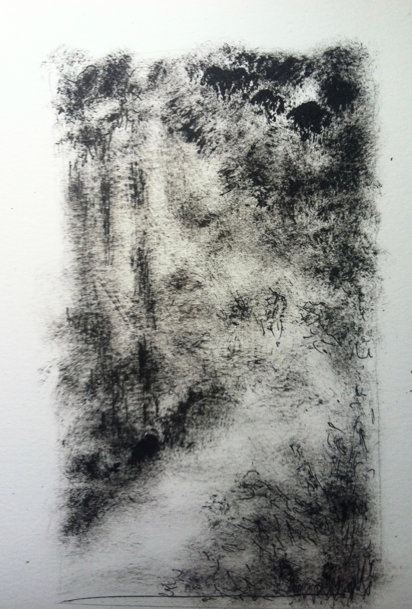 Nachtelijke tuin 2 | acryl op papier | 9x16