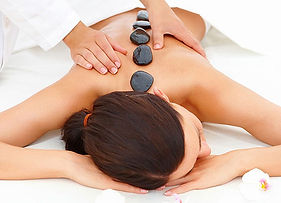 hot stone therapy very relaxing  and soothing treatment