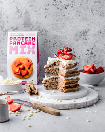 Stacks Strawberry Protein Pancakes NEW!