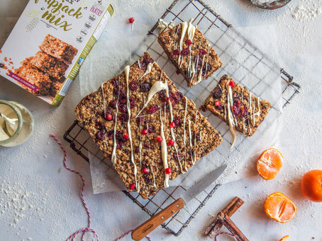 Christmas Flapjack Recipe - gluten-free, vegan and delicious!