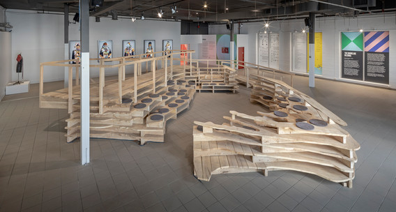 Adrian Blackwell, Isonomia in Toronto? (harbour), 2019, ash harvested in Toronto, 914.4 x 914.4 x 274.3 cm. Commissioned by the Toronto Biennial of Art. On view at 259 Lake Shore Blvd E as part of the Toronto Biennial of Art (2019).  Photo: Toni Hafkenscheid. Courtesy Toronto Biennial of Art.