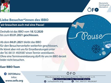 Das IBBO-Team ist weiterhin erreichbar