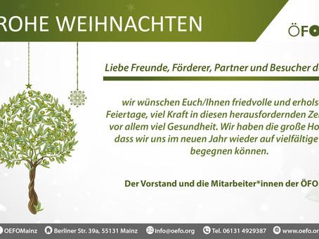 Weihnachtsgrüße von der ÖFO e.V.