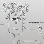 Reindeer Sketch #28 2020 © Brad Nack
