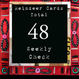 Reindeer Cards - Collection of 48 - Each Unique