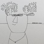 Reindeer Sketch #02 2020 © Brad Nack