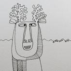 Reindeer Sketch #01 2020 © Brad Nack