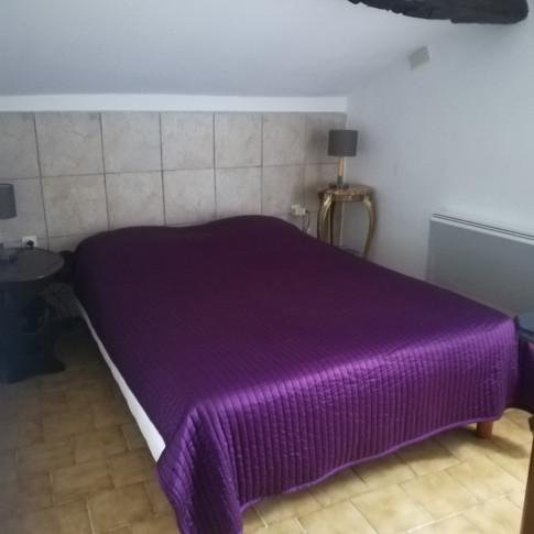 3ème chambre du gîte 6 personnes avec terrasse privative