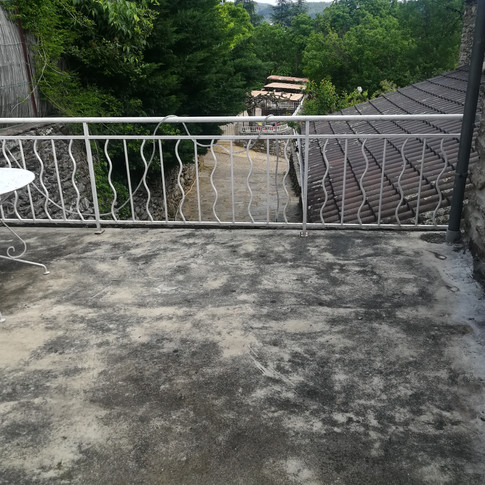 terrasse de la chambre du gîte 6 personnes