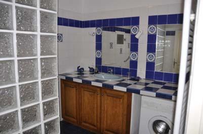 salle d'eau du gîte 4 à 6 personnes