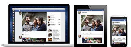 Mobile ipad newsfeed facebook