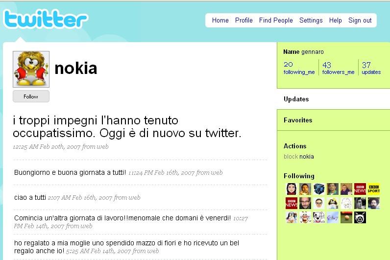 Twitter nokia