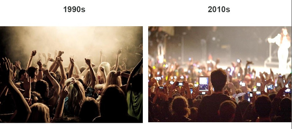 the mobile revolution 1990 2010 comparison