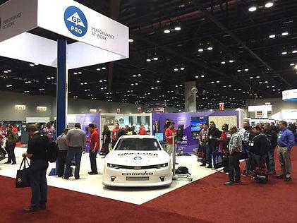 NASCAR simulator at event