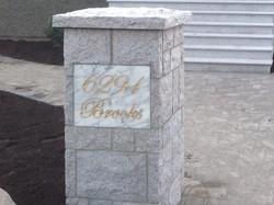 Granite post