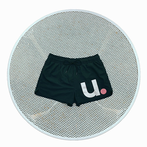 u.Design swim shorts in black mid length