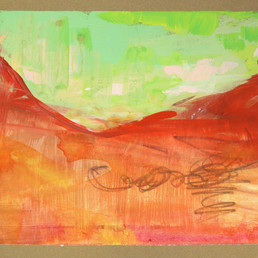 postcape series:  Red rock green